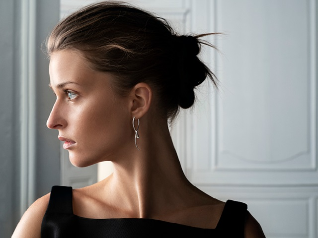 Mercy earrings in sterling silver