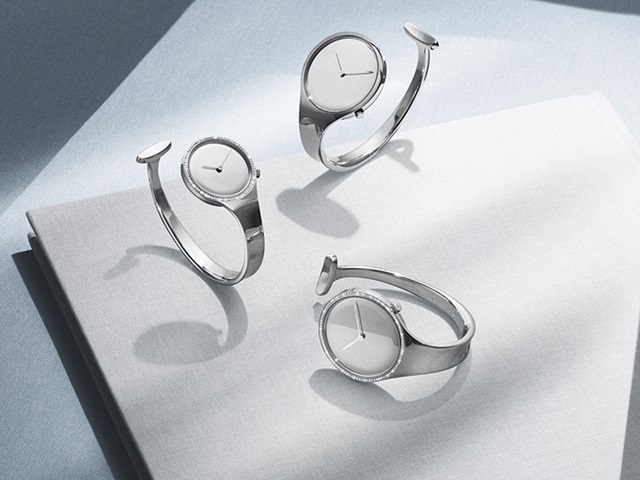Vivianna watches with mirror-dial in stainless steel with diamond bezel