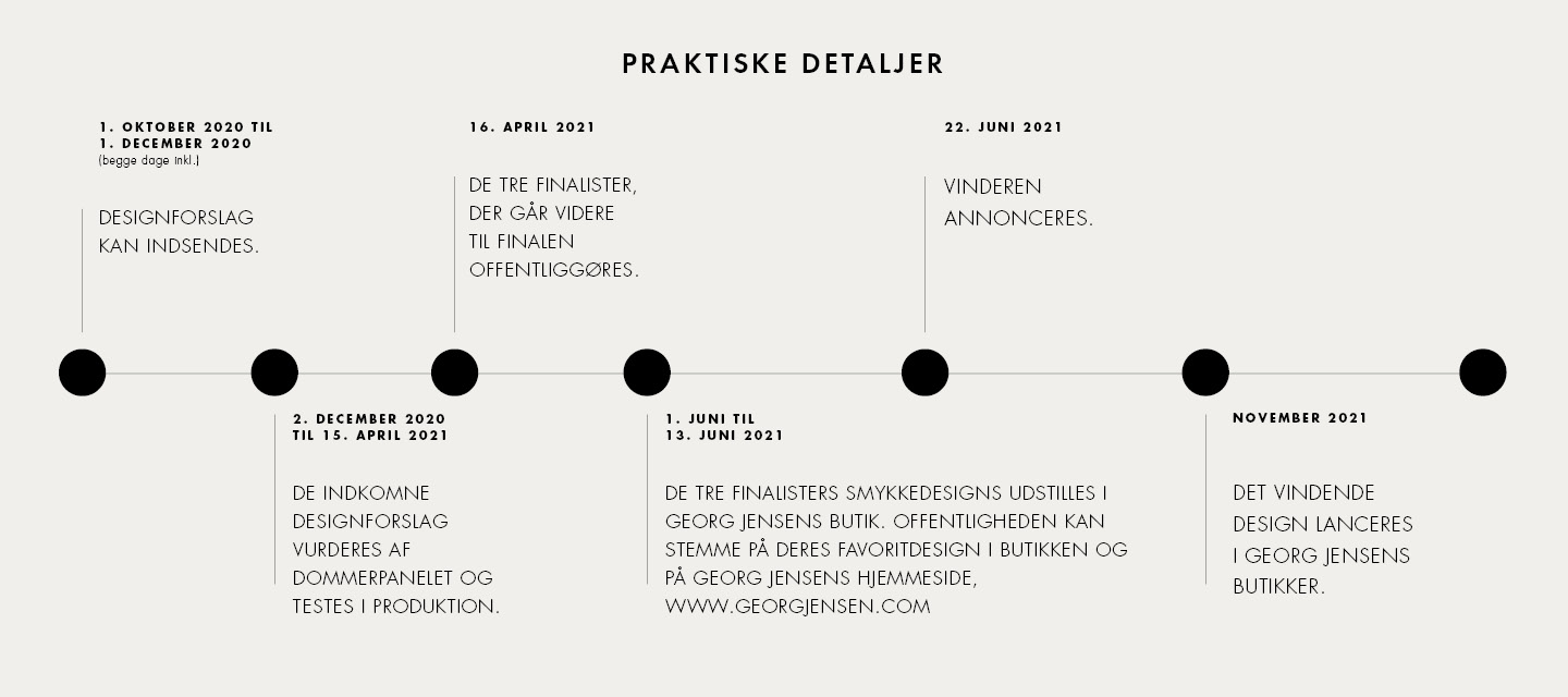 Practical details for the program for the celebration of Her Majesty Queen Margrethe II of Denmarks 50 years on the throne