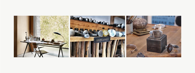Grid image displaying tools for fine silver craftsmanship