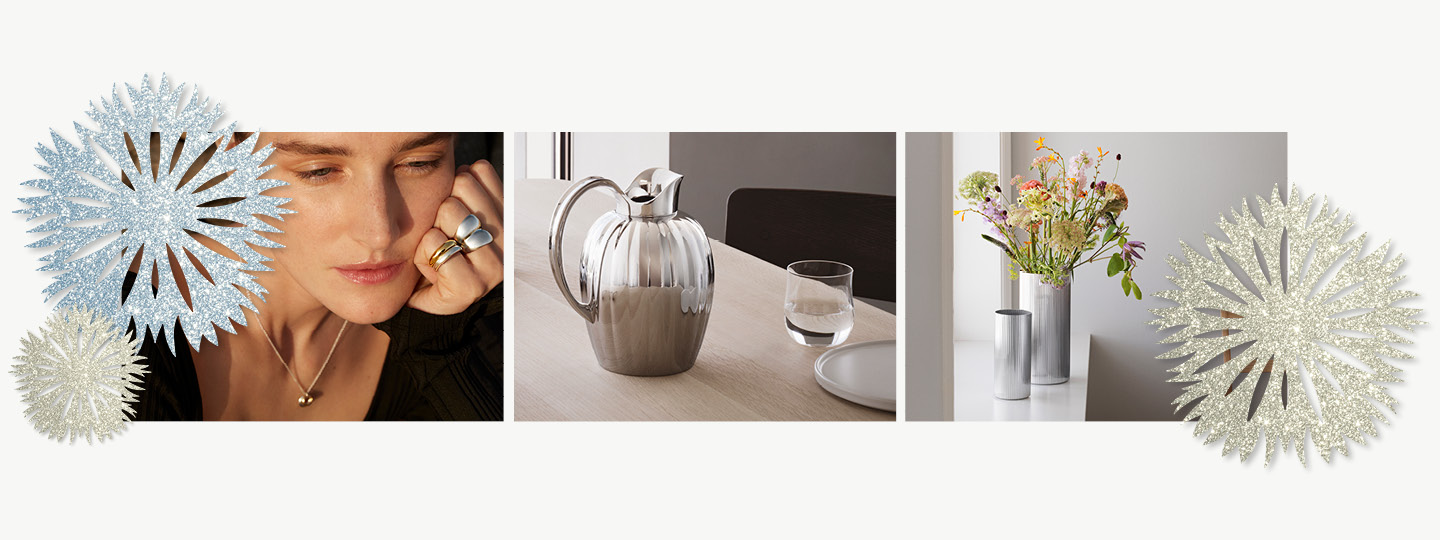 Jewellery and tableware inspiration from Georg Jensen for Christmas presents and gifts for women