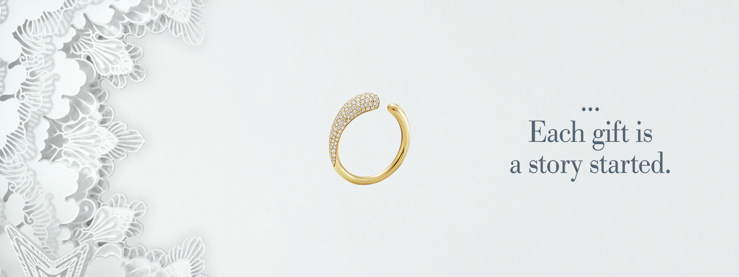 Give a gift of gold jewellery from Georg Jensen