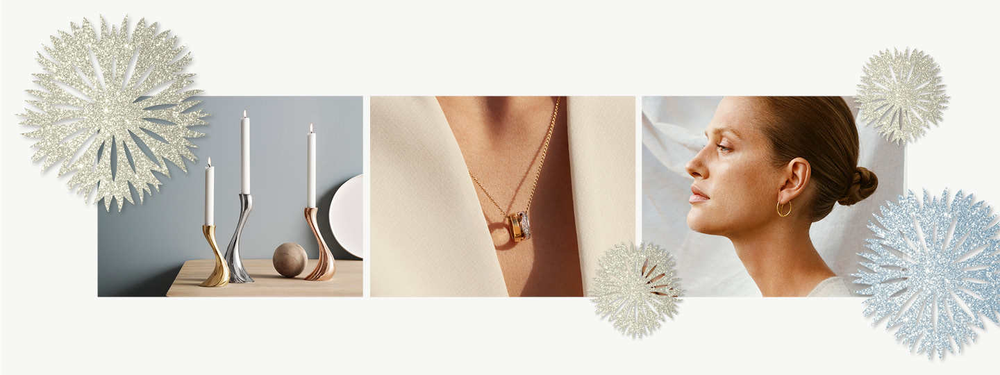 Home decor and Jewellery designs from Georg Jensen as Christmas gift inspiration for women