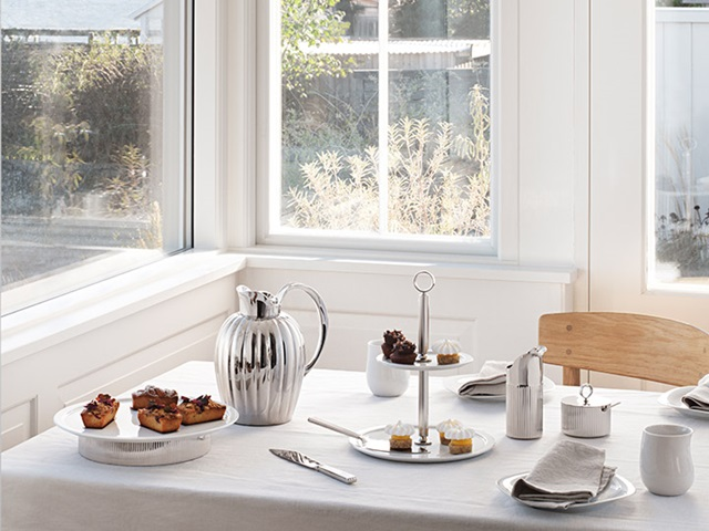 Cover the table with the Bernadotte, Alfredo and Cobra collection from Georg Jensen