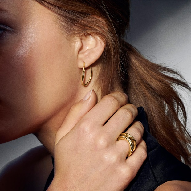 offspring gold earrings and rings