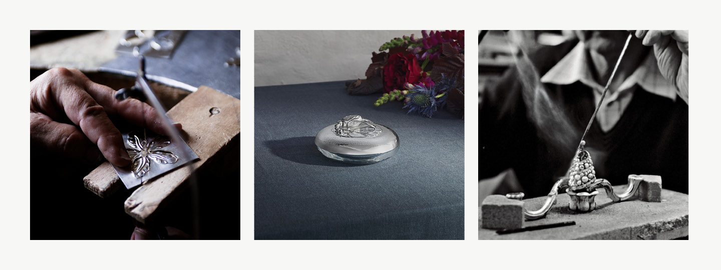 Limited edition bonbonniere in fine sterling silver material designed by Georg Jensen