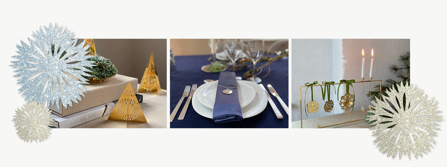 Image spots with 18 kt. gold plated Christmas Collectibles from Georg Jensen