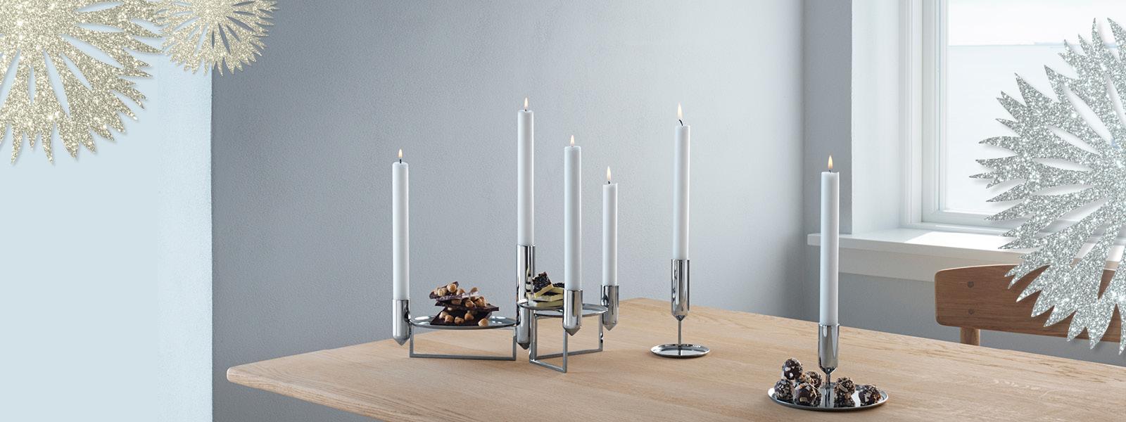 Georg Jensen Christmas Tree Candle Holders 2021