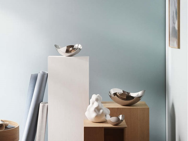 Bloom mirror bowls (small, medium and large) in mirror polished stainless steel