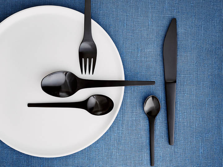 Black Caravel cutlery set