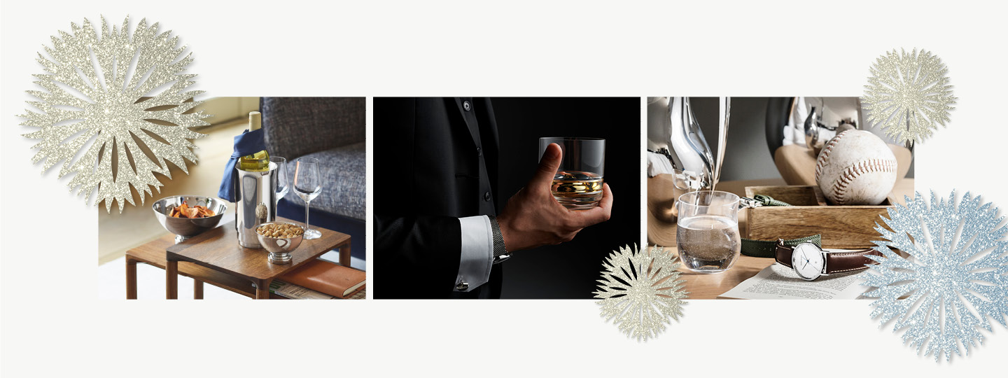Home decor and bar accessories as Christmas gift inspiration for men designed by Georg Jensen