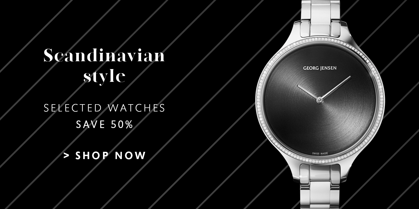 Explore more great Back Friday offers and deals on wrist watches designed by Georg Jensen