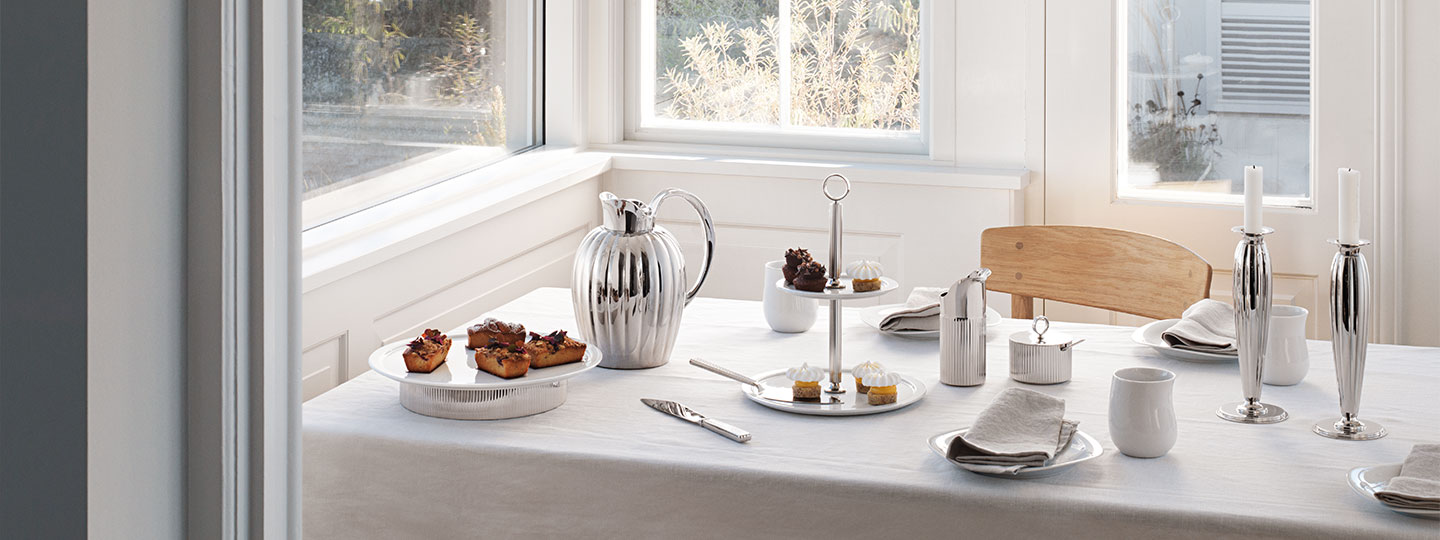 Deck the table with the Bernadotte, Alfredo and Cobra collection from Georg Jensen