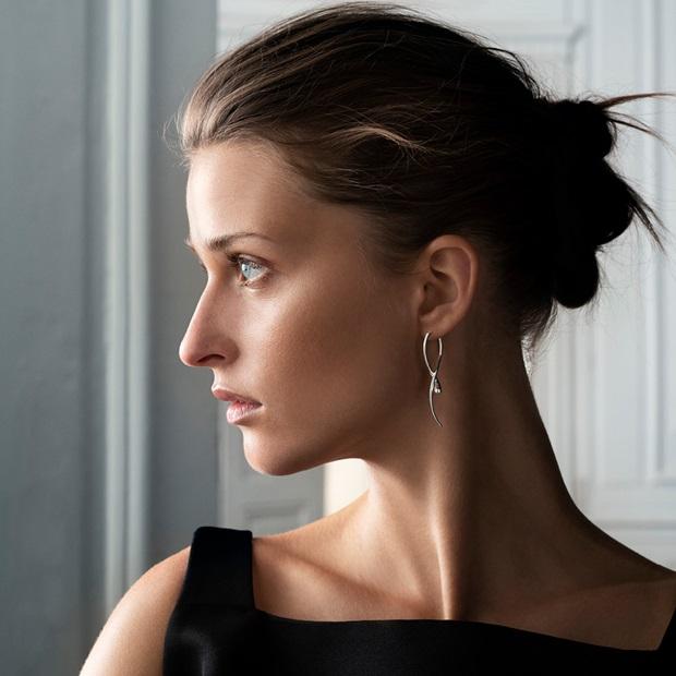 mercy earring in sterling silver