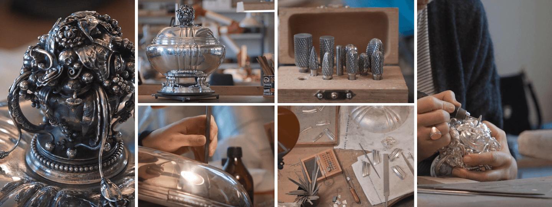 Fine sterling silver Tureen 270 craftsmanship grid by Georg Jensen
