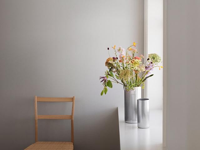 bernadotte vases in stainless steel
