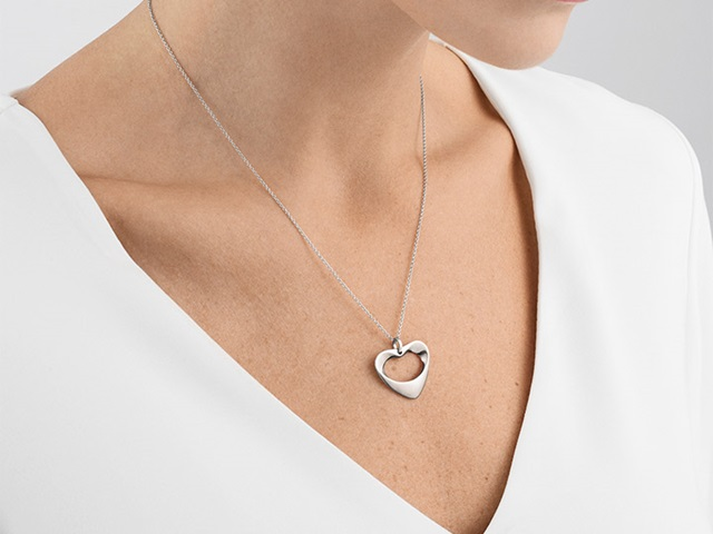 Georg Jensen Sterling Silver pendant from the Hearts collection