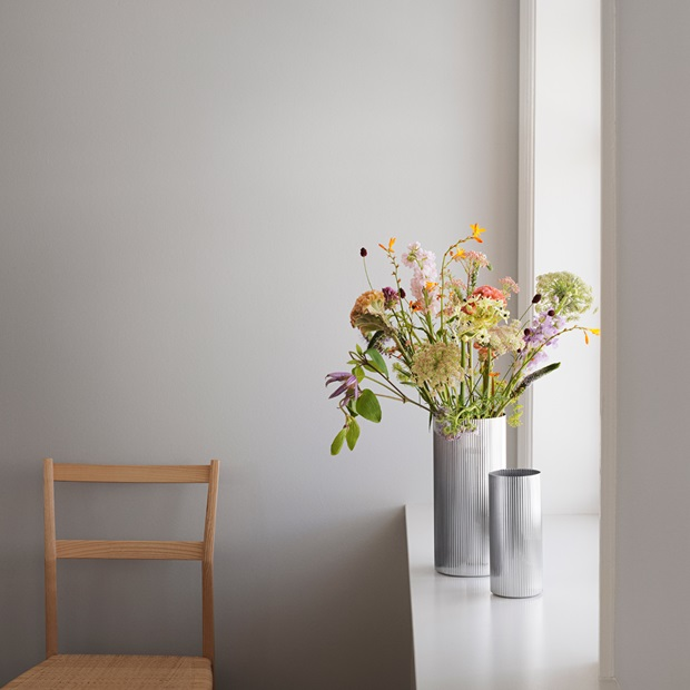 bernadotte vases in stainless steel