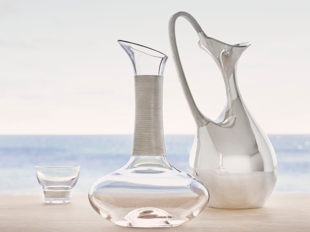 Fine Silverware Koppel Collection from Georg Jensen in sterling silver and glass