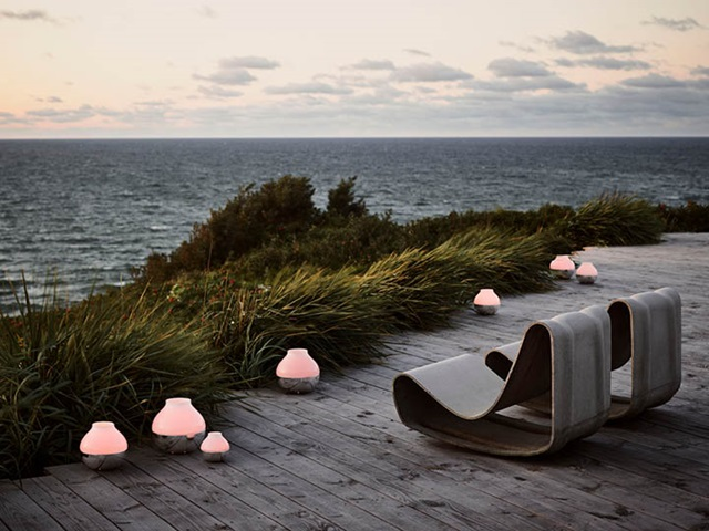 Henning Koppel hurricanes in small, medium and large in mirror-polished stainless steel and glass