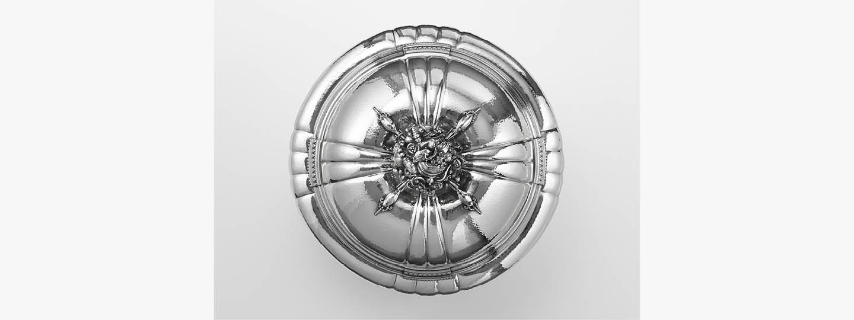 Fine sterling silver Tureen 270 designed by Georg Jensen