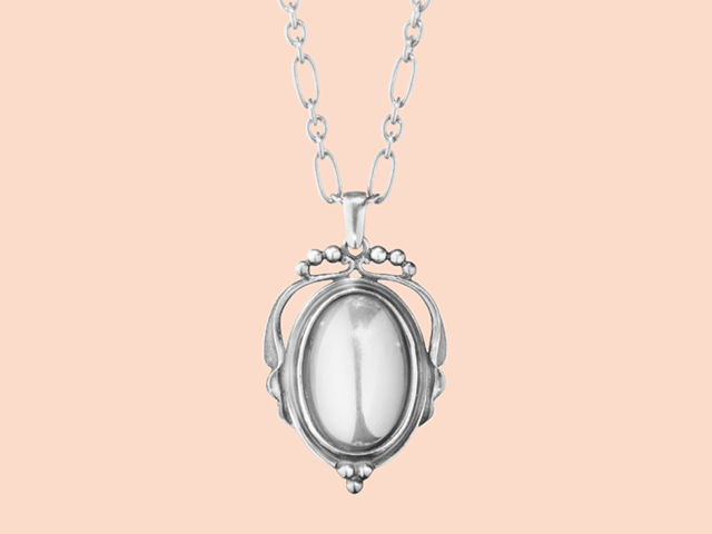 2017 heritage pendant in oxidised sterling silver