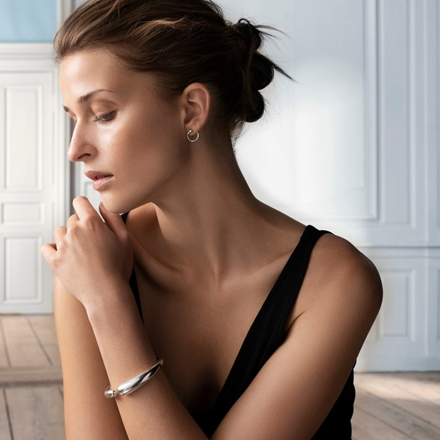 mercy earrings and bangle in sterling silver