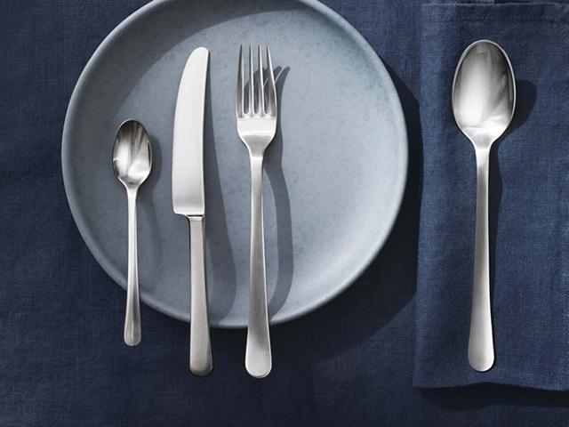 Copenhagen cutlery set in matte stainless steel