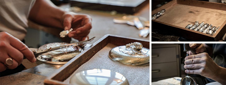 Art Nouveau and Art Deco Scandinavian Silver craftsmanship by the Danish company Georg Jensen est. 1904