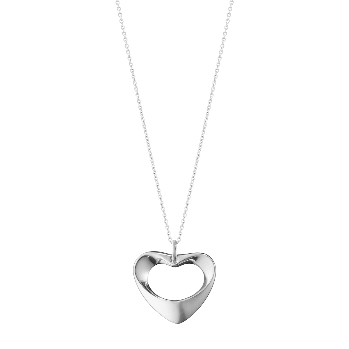 Hearts Of Georg Jensen Pendant Necklace In Sterling Silver