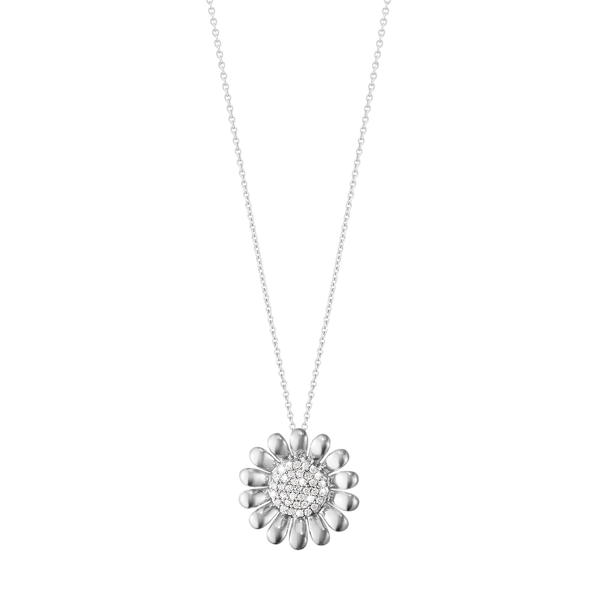 Sunflower pendant sterling silver with brilliant cut diamonds large aloadofball Gallery