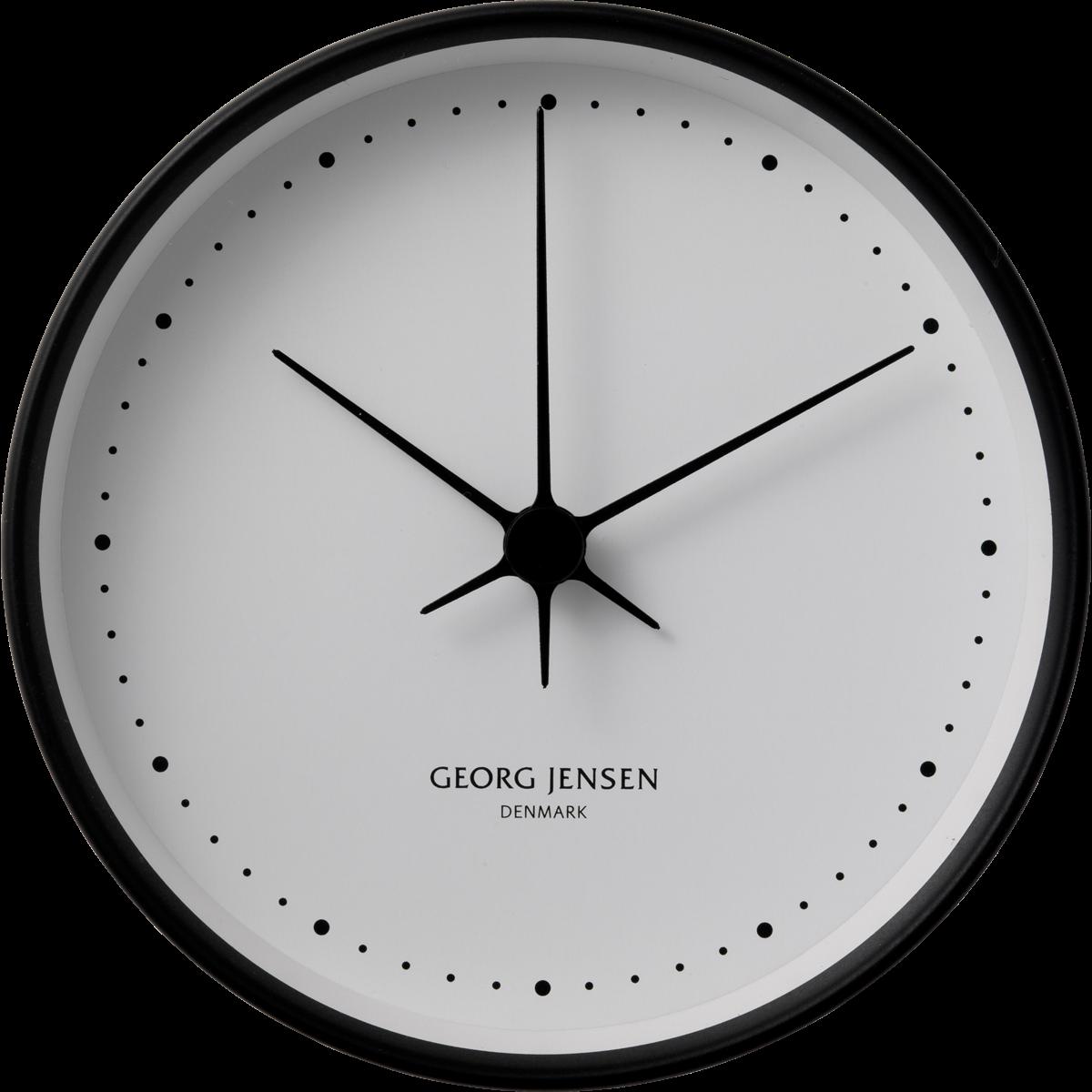 Koppel 22 Cm Wall Clock White Dial Black Stainless Steel