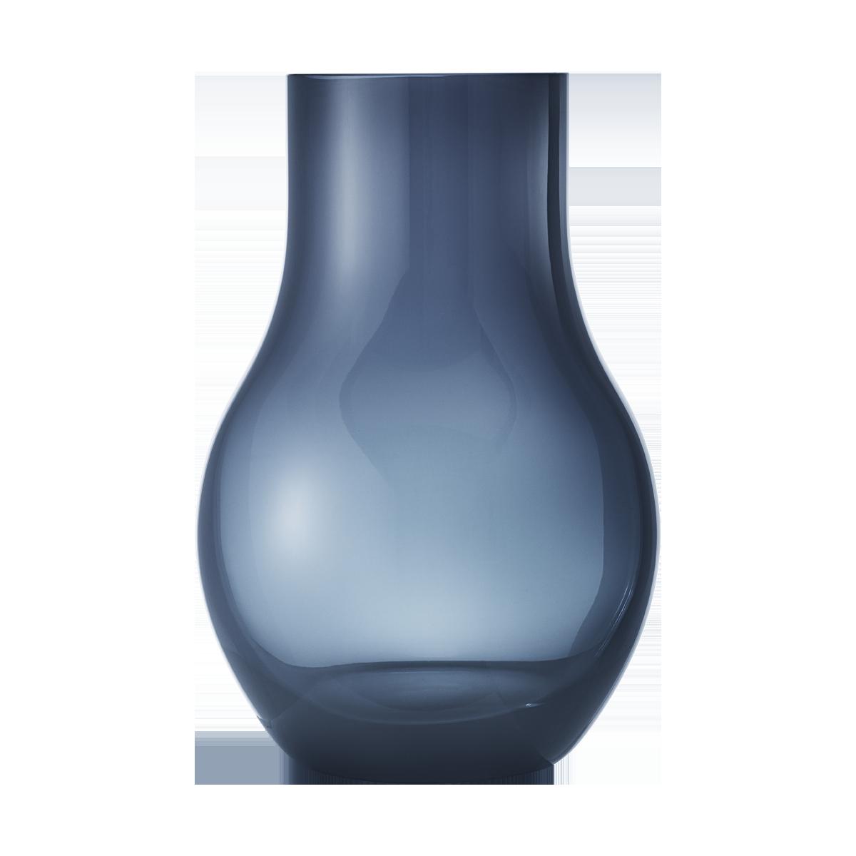 Cafu Modern Vase Handmade In Heavy Blue Glass Georg Jensen
