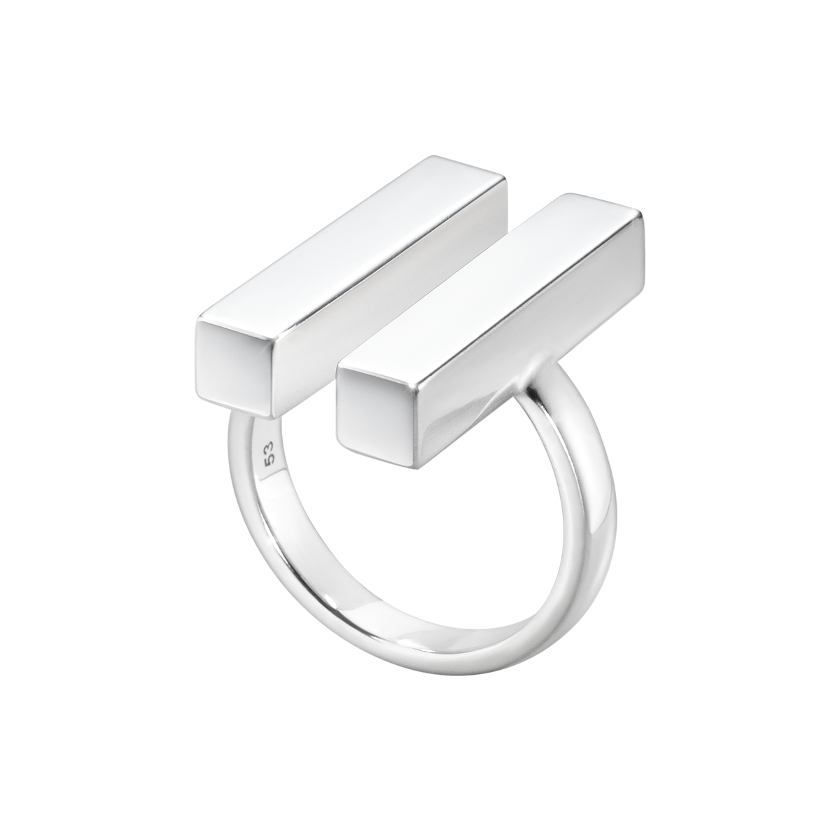 Aria Ring Two Bar Sterling Silver