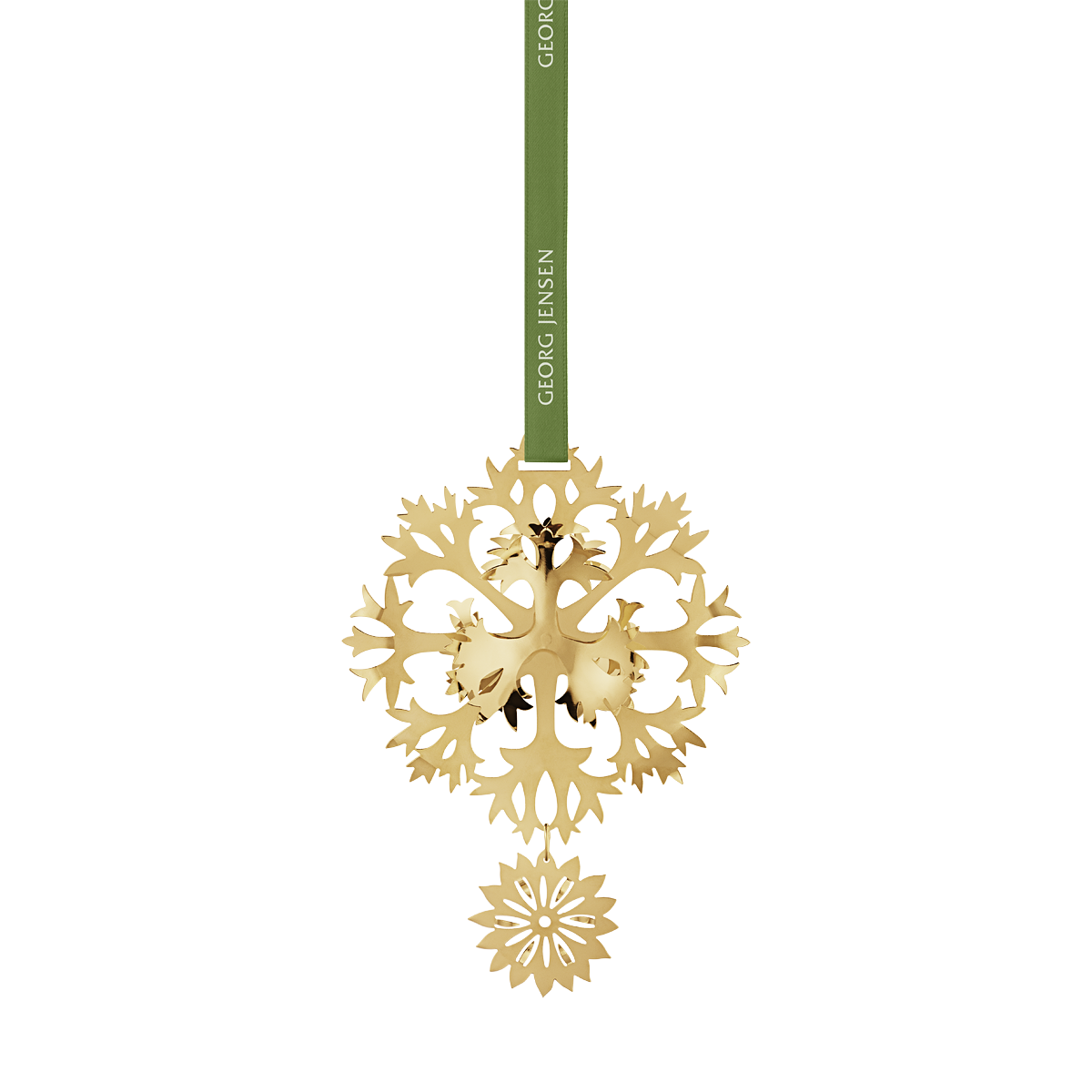 2020 Georg Jensen Christmas Mobile 2020 Christmas Mobile, Ice Flower   gold plated