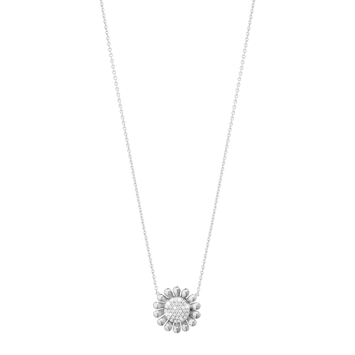 Sunflower pendant sterling silver with brilliant cut diamonds small aloadofball Gallery