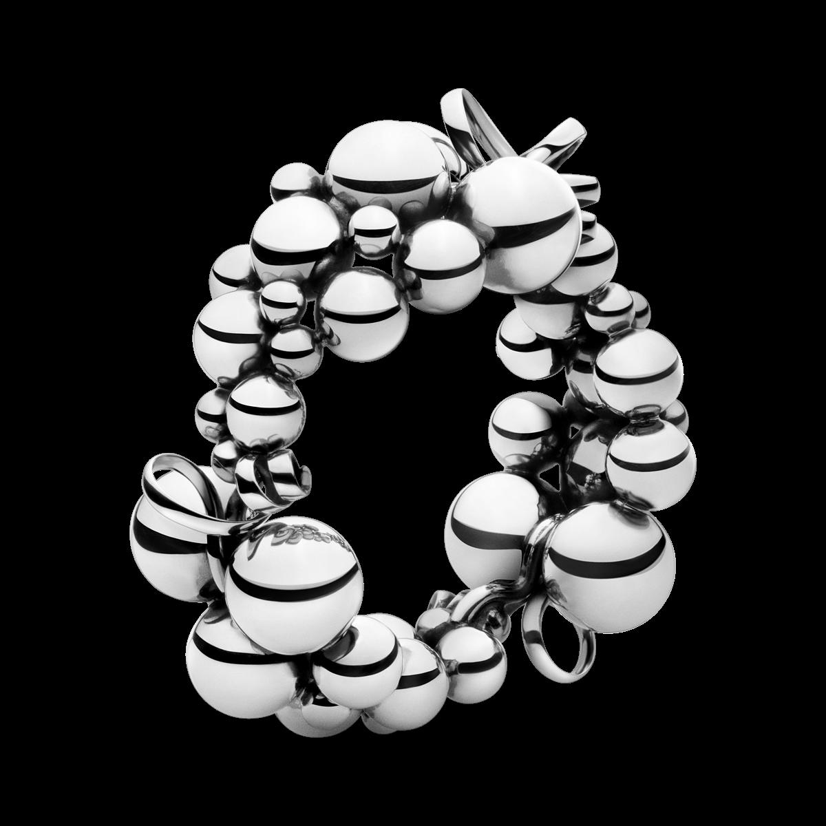 Moonlight Grapes Bracelet Oxidised Sterling Silver I