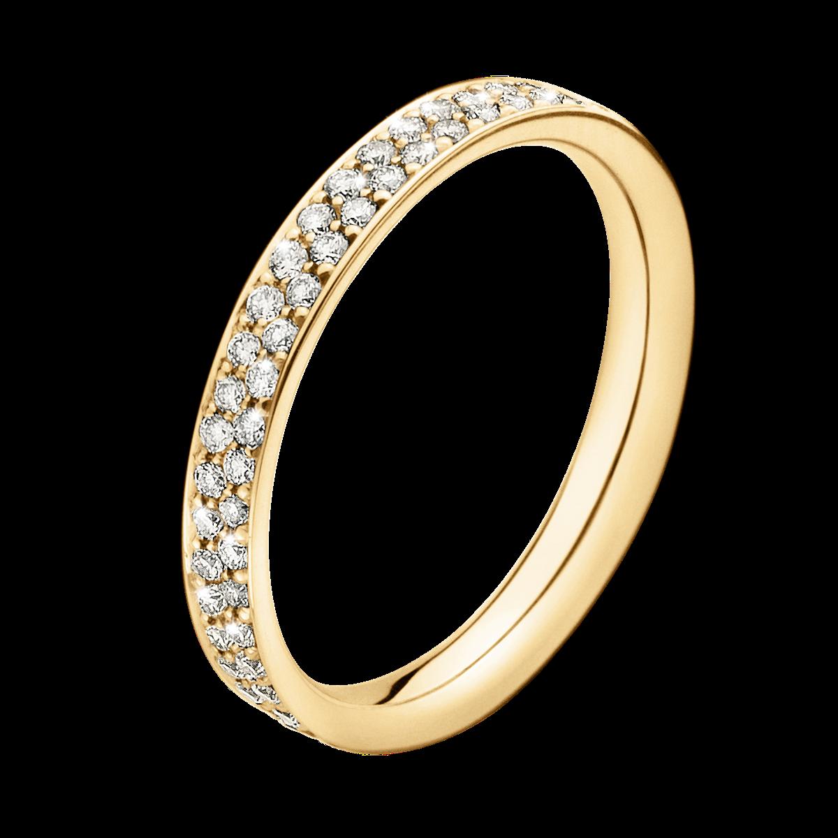 Magic Ring 18 Kt Guld Med Pav 233 Fattede Brillanter I