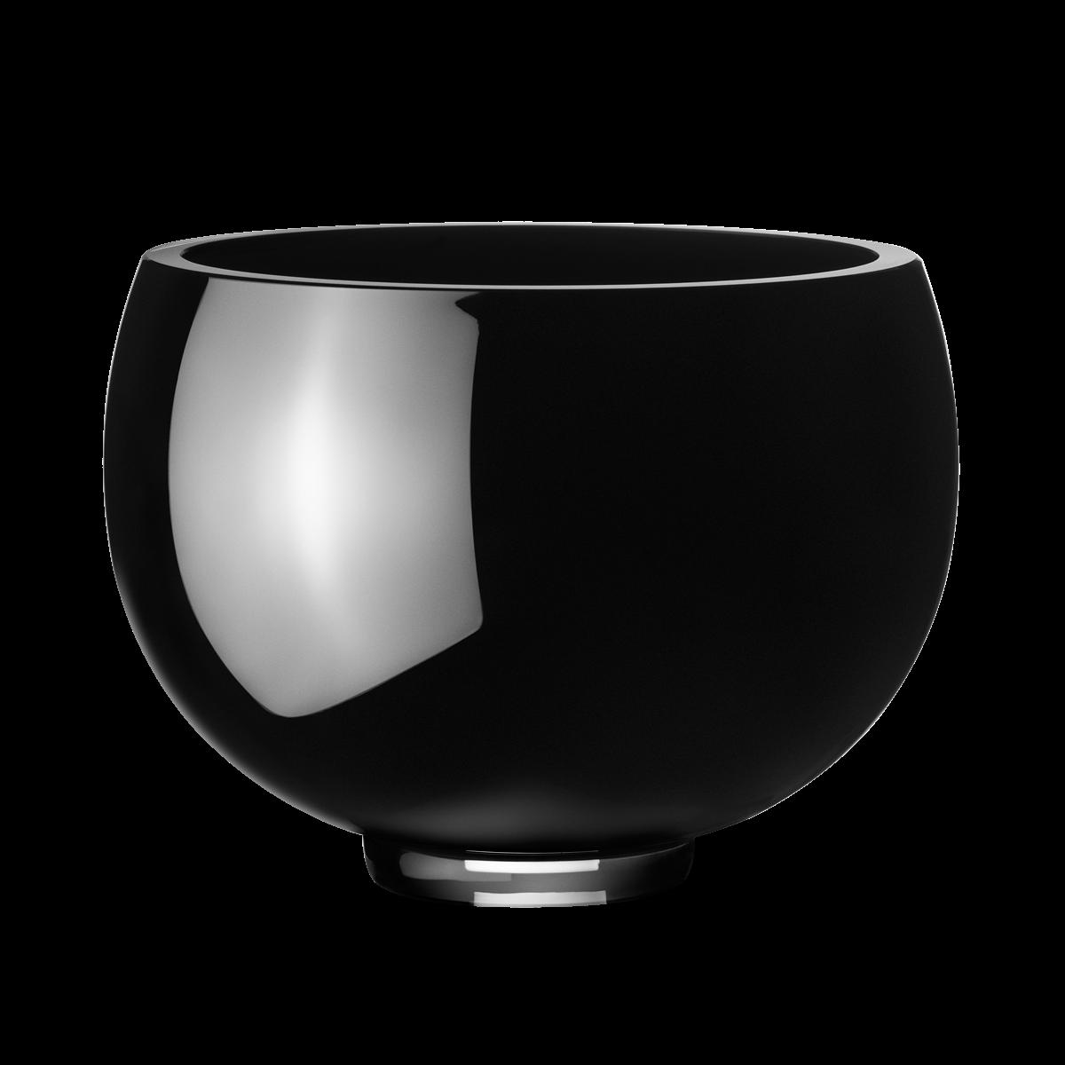 ILSE Bowl Black Glass Medium