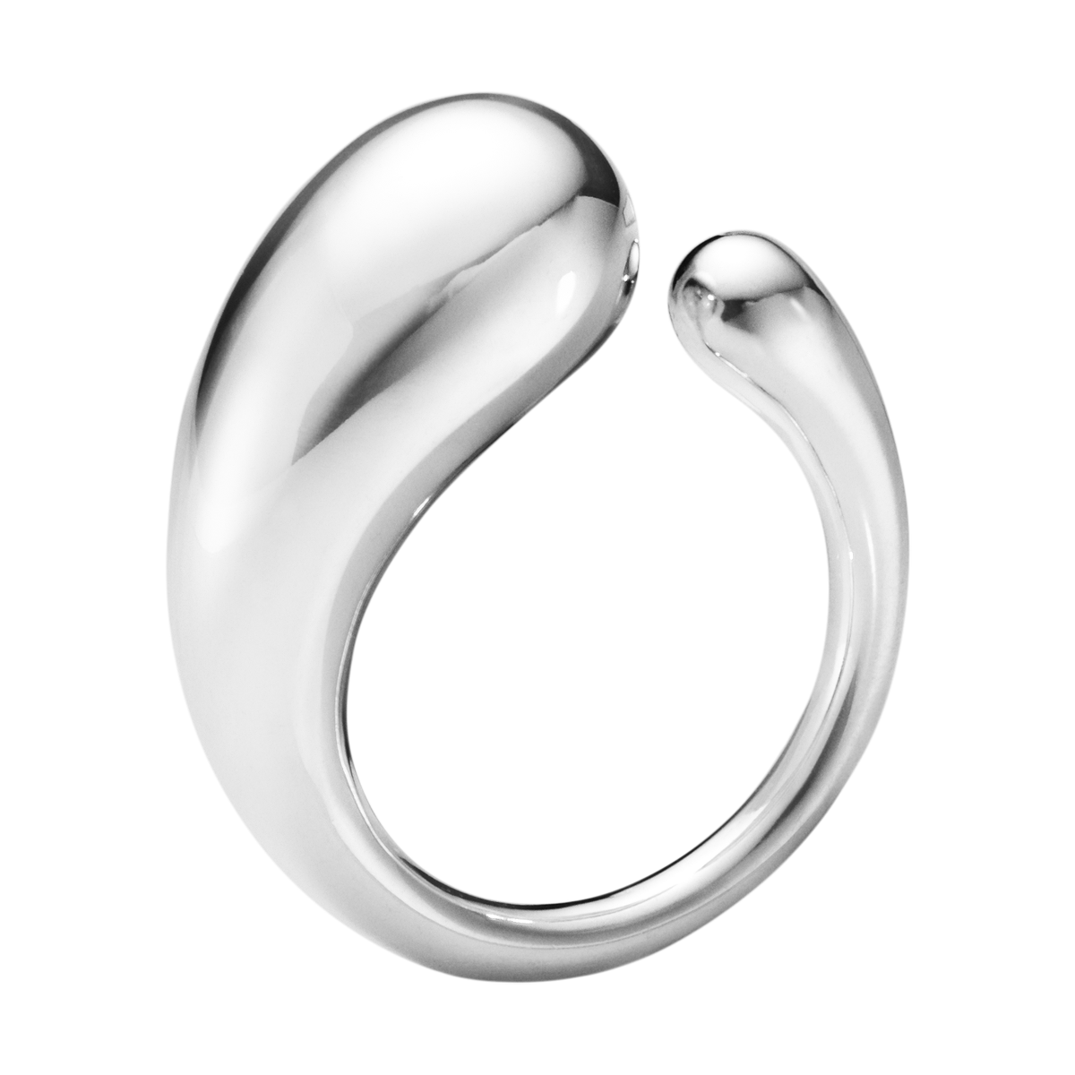 Mercy Large Simple Ring In Sterling Silver Georg Jensen