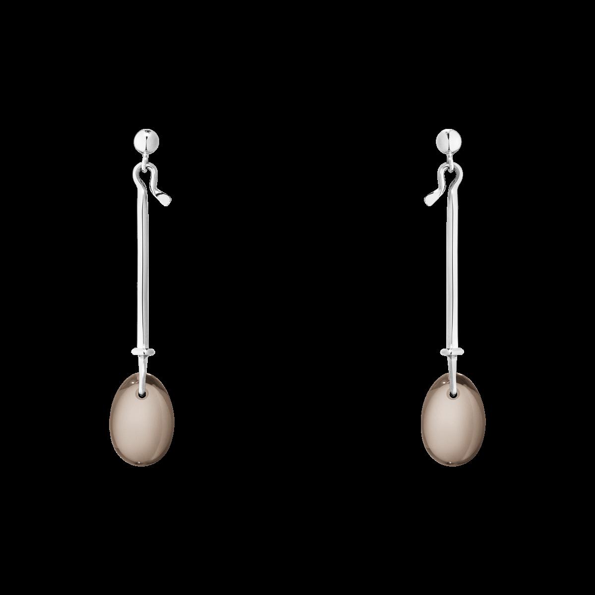 f5e08a737 dew drop earrings sterling silver with smokey quartz. GEORGJENSEN