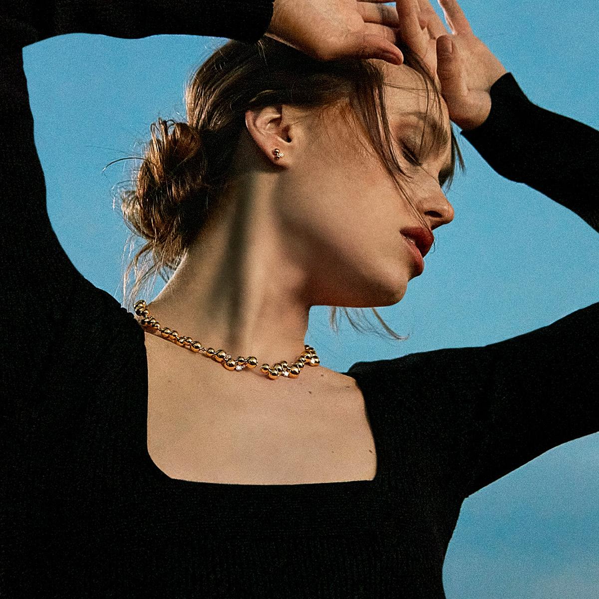 MOONLIGHT GRAPES halsband med hängsmycke, liten